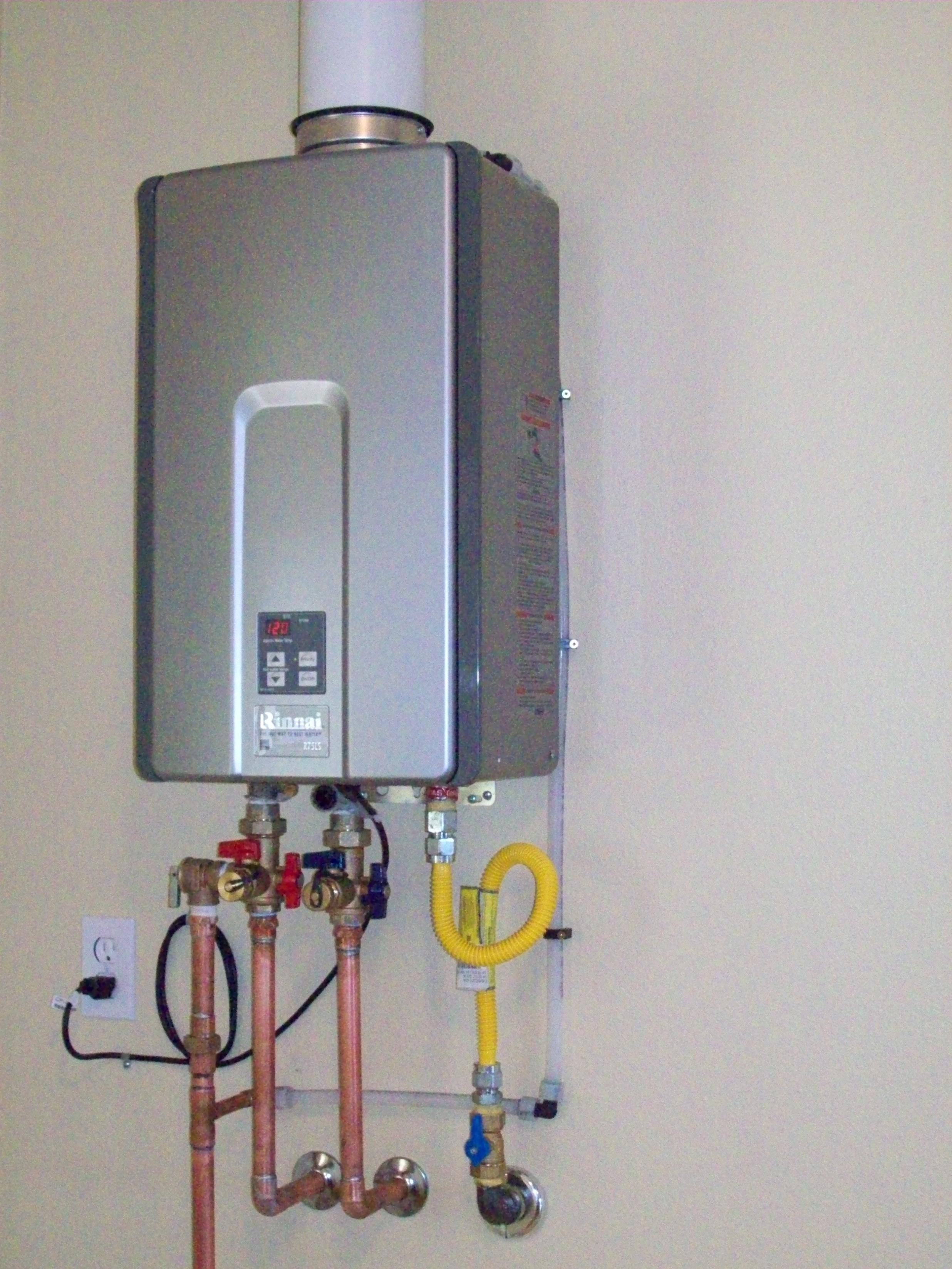 rinnai natural gas tankless water heater price