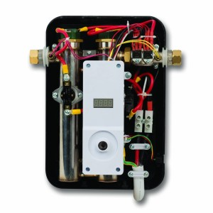 inside of an electric tankless water heater